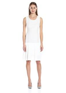 Calvin Klein Women's S/l Ribbed Sweater Dress
