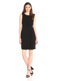 Calvin Klein Women's S/l Solid Wrap Dress