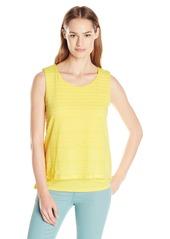 Calvin Klein Women's S/l Textured Double Layer Top