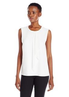 Calvin Klein Women's S/L Top W/ Ruffle Front