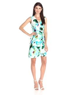 Calvin Klein Women's S/L Wrap Dress