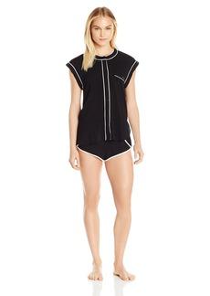 Calvin Klein Women's Sleepwear Sleeve Top and Short Pajama Set