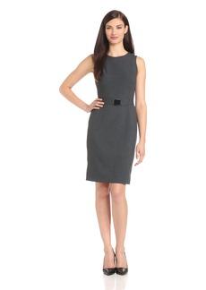 Calvin Klein Women's Sleeveless Belted Suit Dress