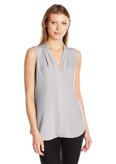 Calvin Klein Women's Sleeveless Blouse with Inverted Pleat  XS