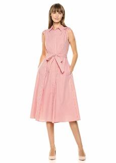 Calvin Klein Women's Sleeveless Button Front Shirt Dress