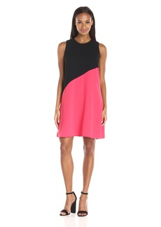 Calvin Klein Women's Sleeveless Color Block Flaired Hem Dress