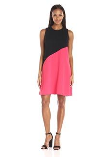 Calvin Klein Women's Sleeveless Color Block Flaired Hem Dress