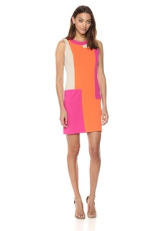 Calvin Klein Women's Sleeveless Color Block Shift Dress