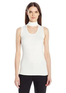 Calvin Klein Women's Sleeveless Cutout Sweater  L