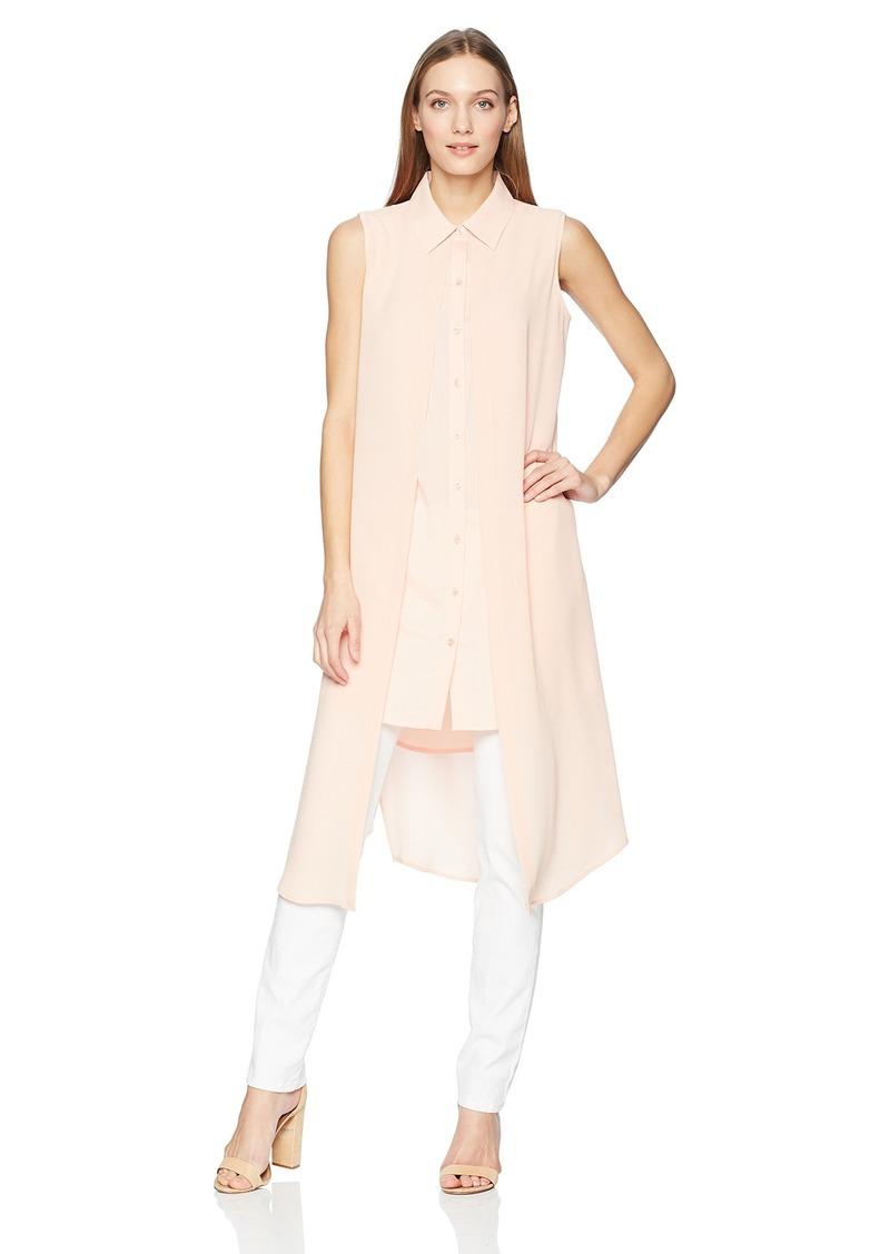 Calvin Klein Women's Sleeveless Double Layer Blouse  L