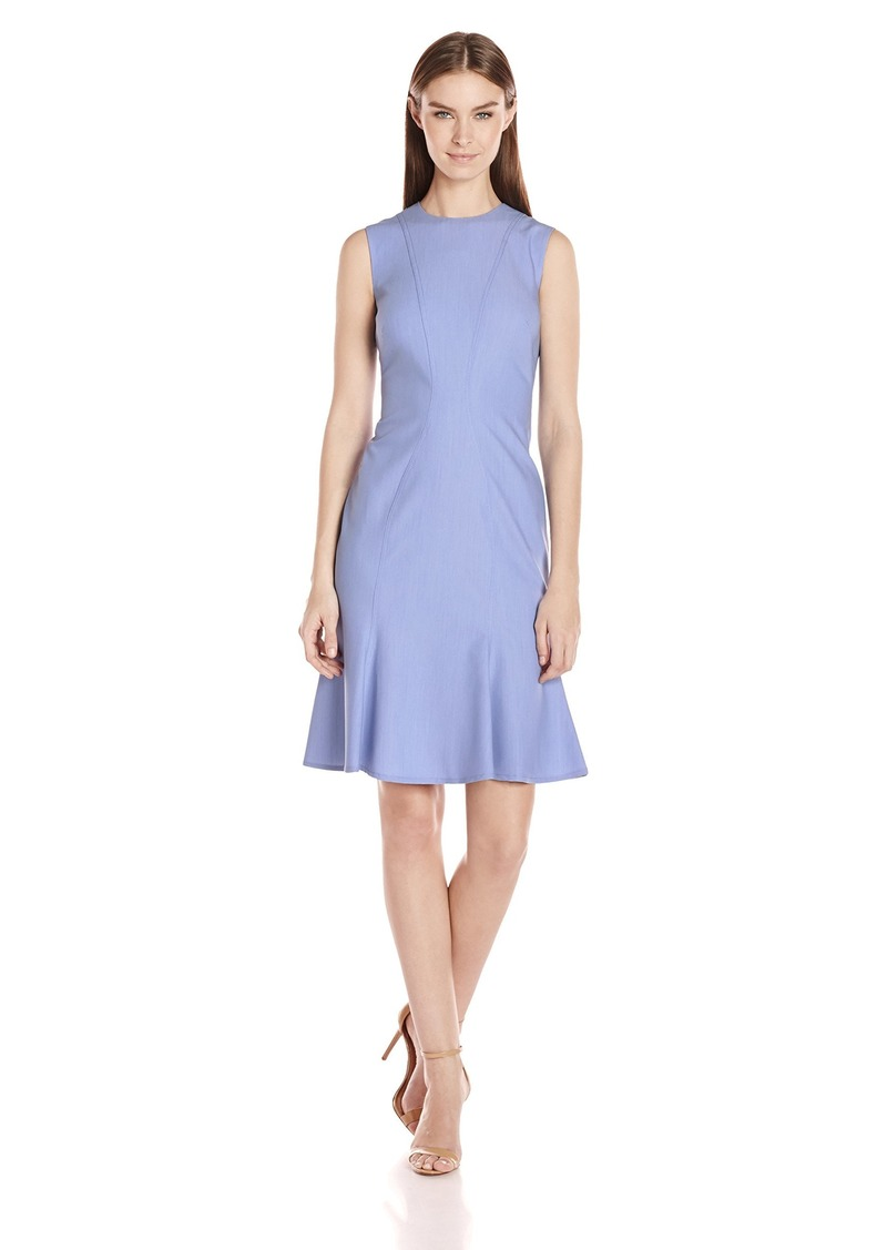 Calvin Klein Women S Sleeveless Dress With Flutter Hem