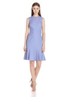 Calvin Klein Women's Sleeveless Dress with Flutter Hem