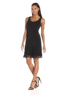 Calvin Klein Women's Sleeveless Dress with Frindge AT Bottom