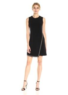 Calvin Klein Women's Sleeveless Dress with Front Drape
