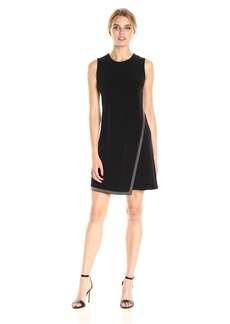Calvin Klein Women's Sleeveless Dress with Front Drape