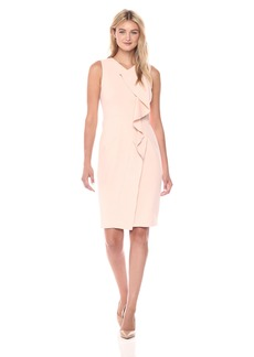 Calvin Klein Women's Sleeveless Dress with Ruffle