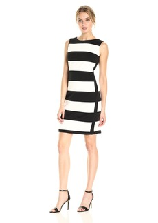 Calvin Klein Women's Sleeveless Dress with Stripes
