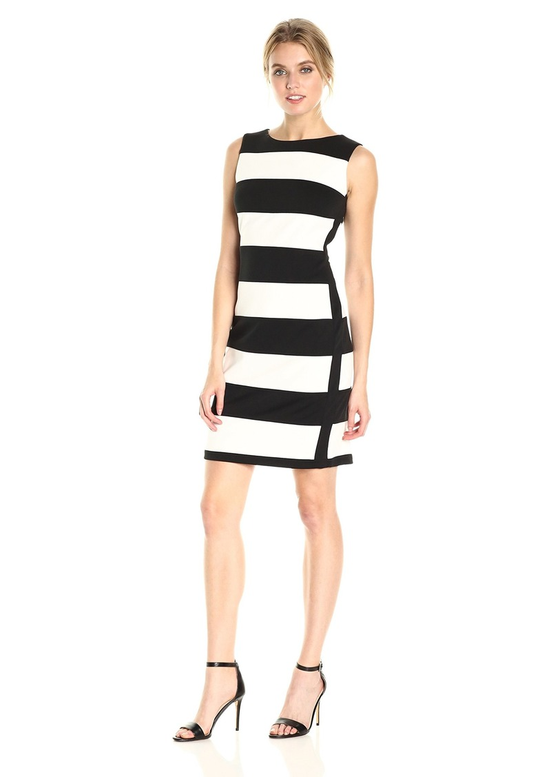 Calvin Klein Women's Sleeveless Dress with Stripes