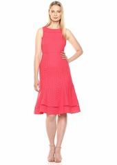 Calvin Klein Women's Sleeveless Eyelet Midi Dress