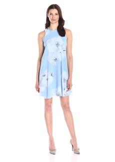 Calvin Klein Women's Sleeveless Round Neck Trapeze Dress