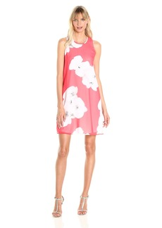 Calvin Klein Women's Sleeveless Floral Trapiz Dress
