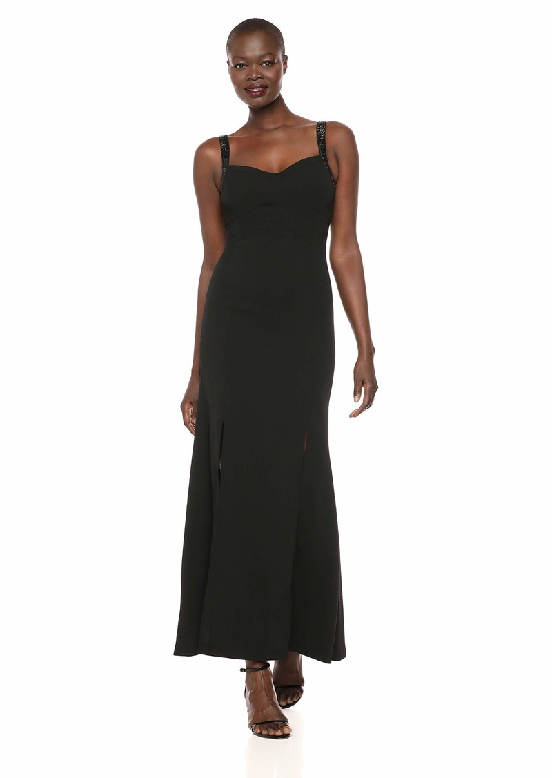 Calvin Klein Women's Sleeveless Gown with Sweetheart Neckline and Beaded Straps