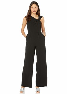 Calvin Klein Women's Sleeveless Jumpsuit with Asymmetrical Knot Neckline
