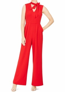 Calvin Klein Women's Sleeveless Jumpsuit with Tie Neck