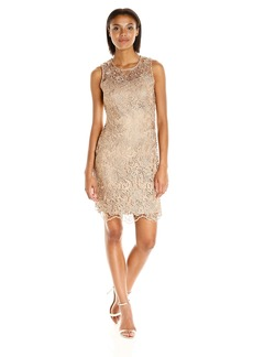 Calvin Klein Women's Sleeveless Lace Sheath Dress