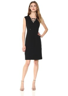 Calvin Klein Women's Sleeveless Lace up Dress  XS