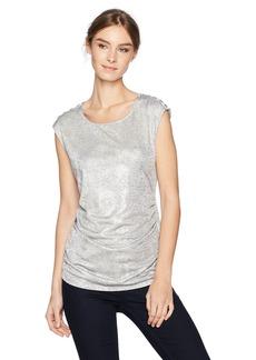 Calvin Klein Women's Sleeveless Metallic Snake Top  L