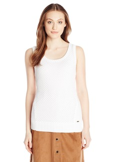 Calvin Klein Women's Sleeveless Open Stitch Sweater