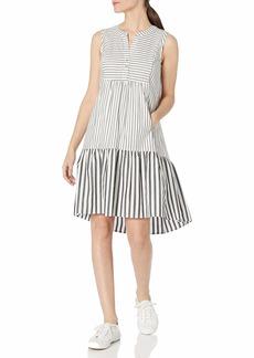 Calvin Klein Women's Sleeveless Oversize Shirt Dress with Flounce Hem