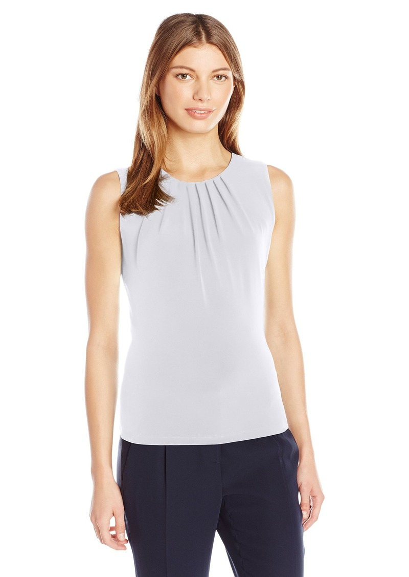 Calvin Klein Women's Sleeveless Pleat Neck Cami