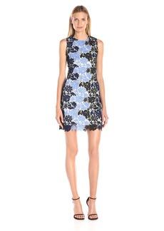 Calvin Klein Women's Sleeveless Round Neck A-Line Lace Dress