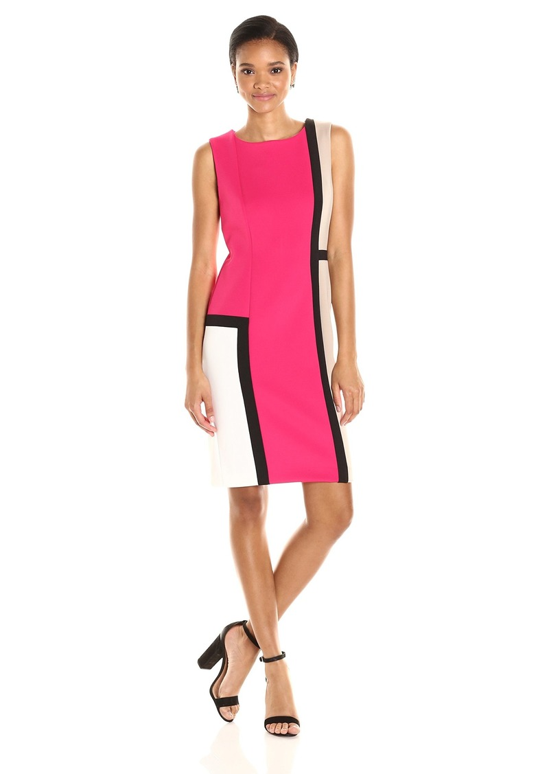 0d38c835282 Calvin Klein Calvin Klein Women s Sleeveless Round Neck Color Block ...