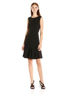 Calvin Klein Women's Sleeveless Round Neck Fit & Flare Dress
