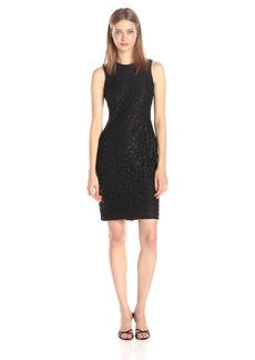Calvin Klein Women's Sleeveless Round Neck Lace Sheath