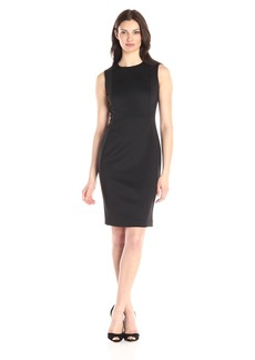 Calvin Klein Women's Sleeveless Round Neck Princess Panel Sheath Dress