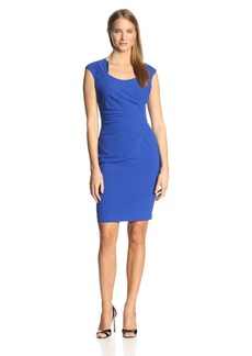 Calvin Klein Women's Sleeveless Scoopneck Side Ruched Dress