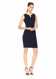 Calvin Klein Women's Sleeveless Seamed Sheath Dress