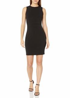 Calvin Klein Women's Sleeveless Seamed Sheath with Heatfix Border Detail