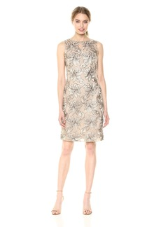 Calvin Klein Women's Sleeveless Sequin Sheath Dress