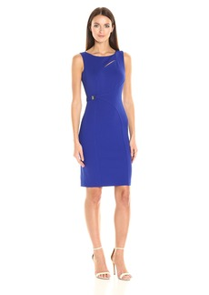 Calvin Klein Women's Sleeveless Sheath Dress with Neck Cut Out