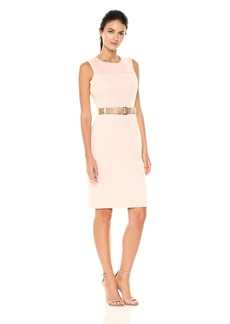 Calvin Klein Women's Sleeveless Sheath with Belt