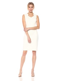 Calvin Klein Women's Sleeveless Sheath with Cut Out Neckline