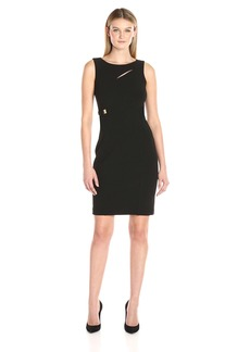 Calvin Klein Women's Sleeveless Sheath with Neck Cut Out