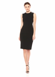 Calvin Klein Women's Sleeveless Sheath with Shoulder Cut Outs