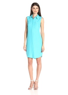 Calvin Klein Women's Sleeveless Shert Dress with Path Pocket