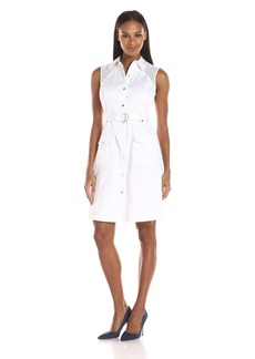 Calvin Klein Women's Sleeveless Shirt Dress